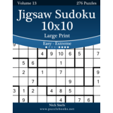 Jigsaw Sudoku 10x10 Large Print - Easy to Extreme - Volume 13 - 276 Puzzles