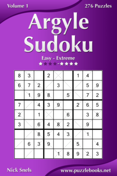 Argyle Sudoku - Easy to Extreme - Volume 1 - 276 Puzzles
