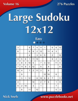 Large Sudoku 12x12 - Easy - Volume 16 - 276 Puzzles