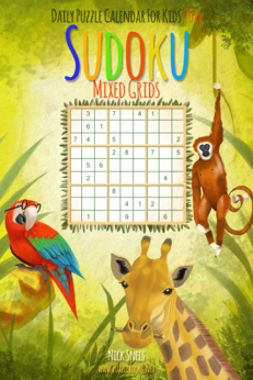 Daily Sudoku For Kids Mixed Grids Puzzle Calendar 2016