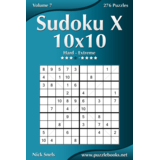 Sudoku X 10x10 - Hard to Extreme - Volume 7 - 276 Puzzles