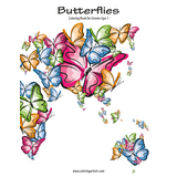 Butterflies Coloring Book for Grown-Ups 1