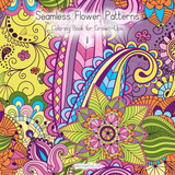 Seamless Flower Patterns Coloring Book for Grown-Ups 1