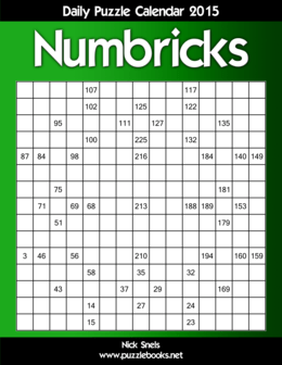 Daily Numbricks Puzzle Calendar 2015