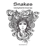 Snakes Coloring Book for Grown-Ups 1
