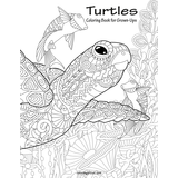 Turtles Coloring Book for Grown-Ups 1