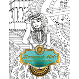Steampunk Girls Coloring Book for Grown-Ups 1