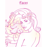 Faces Coloring Book for Grown-Ups 1 & 2