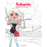 Fashionistas Coloring Book for Grown-Ups 1 & 2