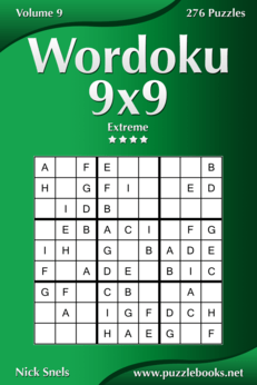 Wordoku 9x9 - Extreme - Volume 9 - 276 Logic Puzzles