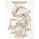 Mushrooms Coloring Book for Grown-Ups 1