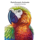 Rainforest Animals Coloring Book for Grown-Ups 1