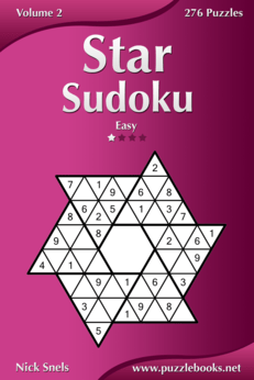 Star Sudoku - Easy - Volume 2 - 276 Logic Puzzles