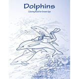 Dolphins Coloring Book for Grown-Ups 1