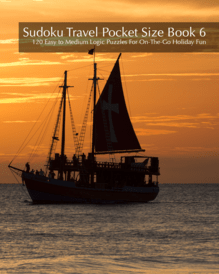 Sudoku Travel Pocket Size Book 6 - 120 Easy to Medium Logic Puzzles For On-The-Go Holiday Fun