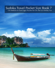 Sudoku Travel Pocket Size Book 7 - 120 Medium to Hard Logic Puzzles For On-The-Go Holiday Fun