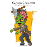 Cartoon Characters Coloring Book for Grown-Ups 1, 2 & 3