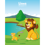 Lions Coloring Book 1 & 2