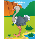 Ostriches Coloring Book 1