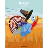 Turkeys Coloring Book 1