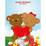 Animals with Hearts Coloring Book 2