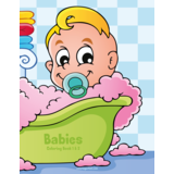 Babies Coloring Book 1 & 2