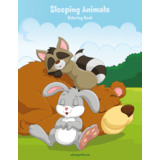 Sleeping Animals Coloring Book 1