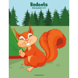 Rodents Coloring Book 1, 2 & 3