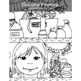 Doodle Frenzy Coloring Book for Grown-Ups 1, 2 & 3
