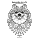 Zendoodle Animals Coloring Book for Grown-Ups 3