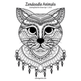Zendoodle Animals Coloring Book for Grown-Ups 1, 2 & 3