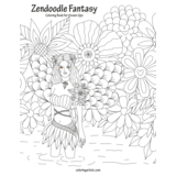 Zendoodle Fantasy Coloring Book for Grown-Ups 1
