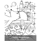 Happy Hedgehogs Coloring Book for Grown-Ups 1