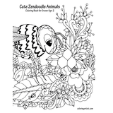 Cute Zendoodle Animals Coloring Book for Grown-Ups 2