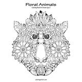 Floral Animals Coloring Book for Grown-Ups 2