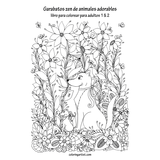 Garabatos zen de animales adorables libro para colorear para adultos 1 & 2