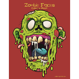 Zombie Faces Coloring Book 1
