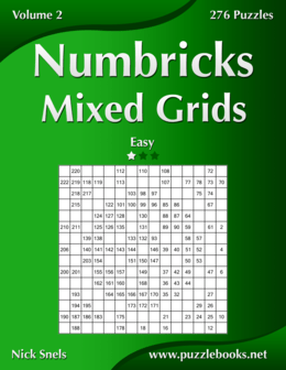Numbricks Mixed Grids - Easy - Volume 2 - 276 Puzzles