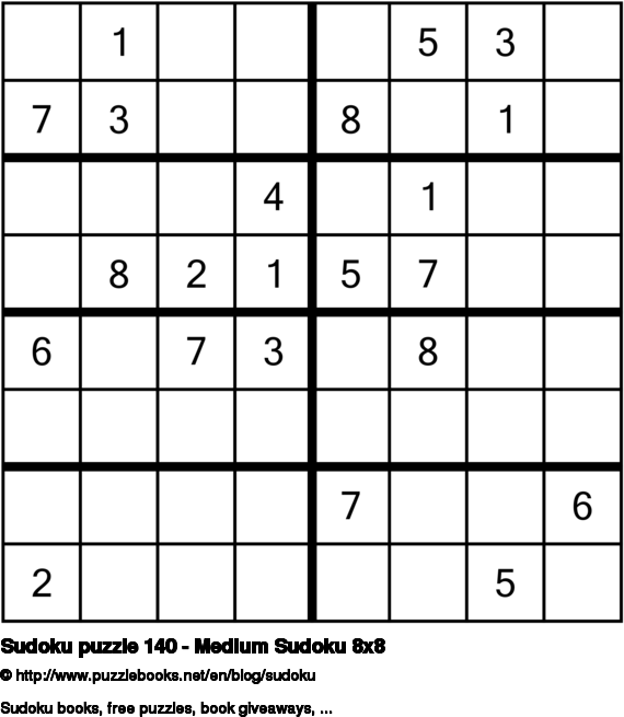 Sudoku puzzle 140 - Medium Sudoku 8x8