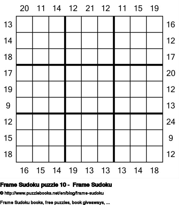 Frame Sudoku puzzle 10 -  Frame Sudoku