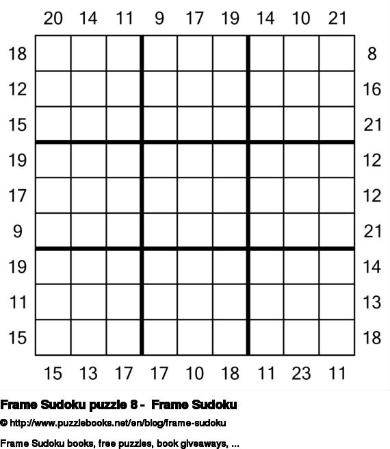 Frame Sudoku puzzle 8 -  Frame Sudoku