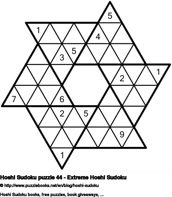 Hoshi Sudoku puzzle 44 - Extreme Hoshi Sudoku