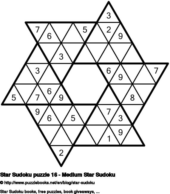 Star Sudoku puzzle 16 - Medium Star Sudoku