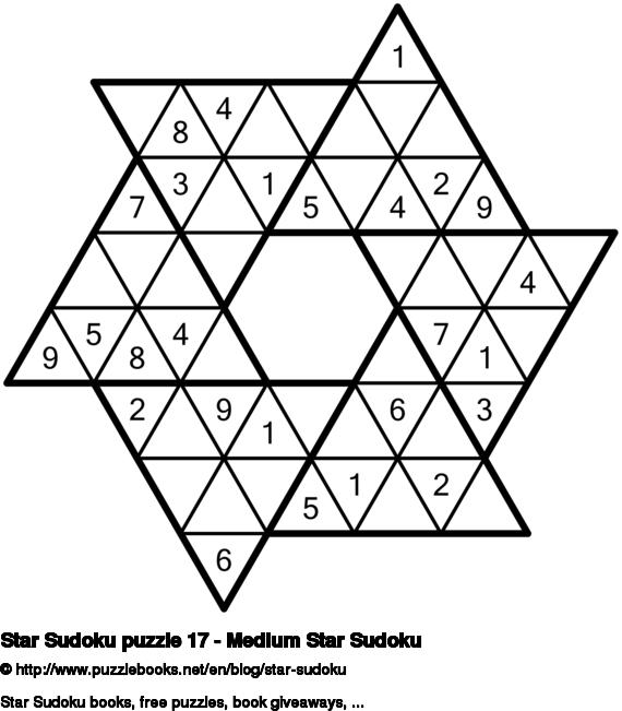 Star Sudoku puzzle 17 - Medium Star Sudoku