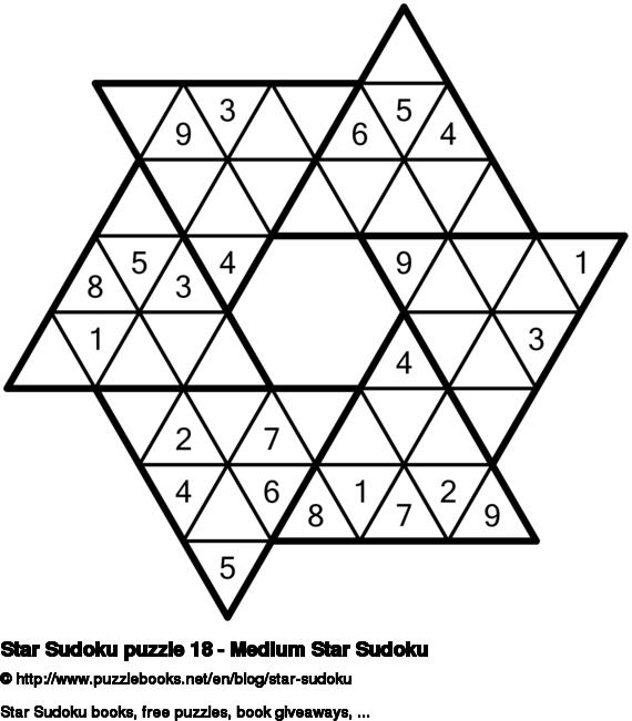 Star Sudoku puzzle 18 - Medium Star Sudoku