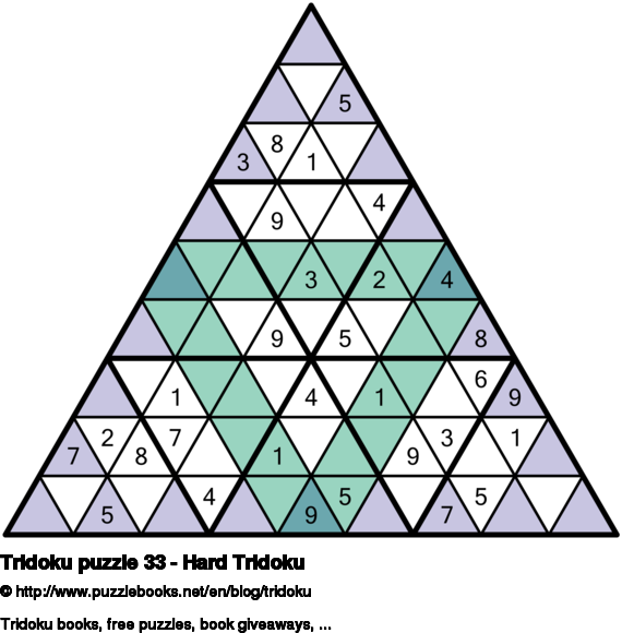 Tridoku puzzle 33 - Hard Tridoku