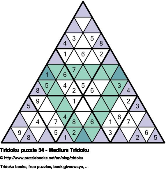 Tridoku puzzle 34 - Medium Tridoku