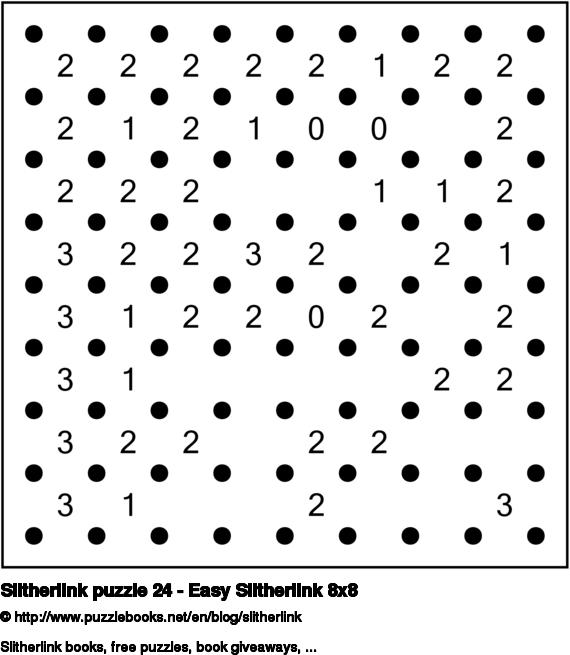 Slitherlink puzzle 24 - Easy Slitherlink 8x8