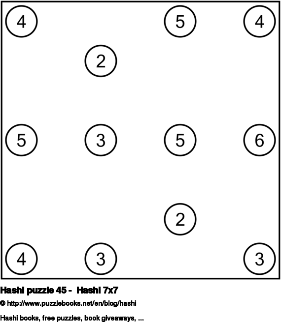 Hashi puzzle 45 -  Hashi 7x7