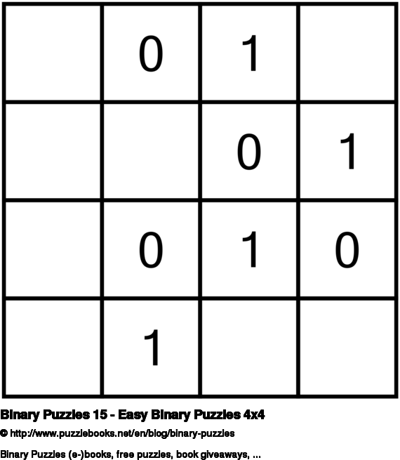 Binary Puzzles 15 - Easy Binary Puzzles 4x4